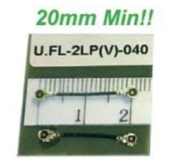 コネクタ間20mm 両端U/FLコネクタ付ケーブルA'ssy